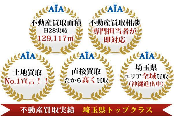 不動産買取実績 埼玉県トップクラス