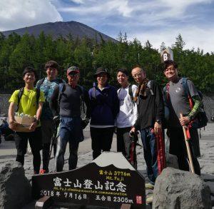 『毎年恒例の富士登山!!』
